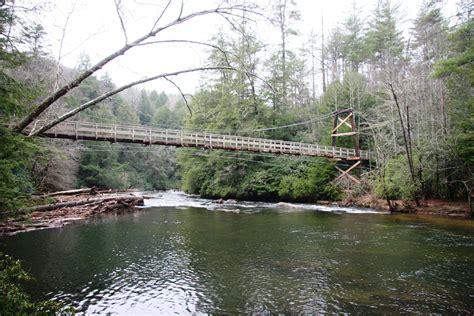 toccoa river swinging bridge bridgehunter com benton mackaye trail toccoa river bridge