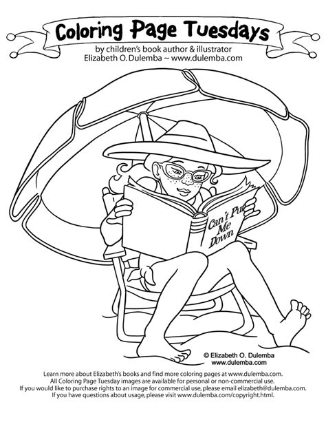 summer reading coloring page dulemba coloring page tuesday summer reading