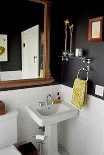 how to remove yellow stains from bathroom sink black yellow bathroom by lynn love the tile on the