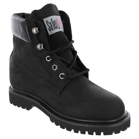 safetygirl ii steel toe waterproof women s work boots black