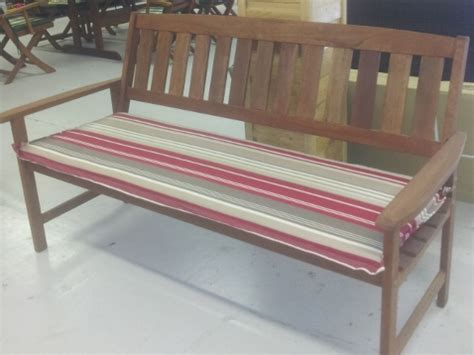 garden bench cushions 3 seater 3 seater hardwood garden bench with cushion laois