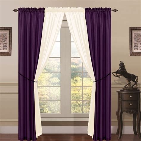 purple silk curtains buy 6 piece lana faux silk window curtain panels dark