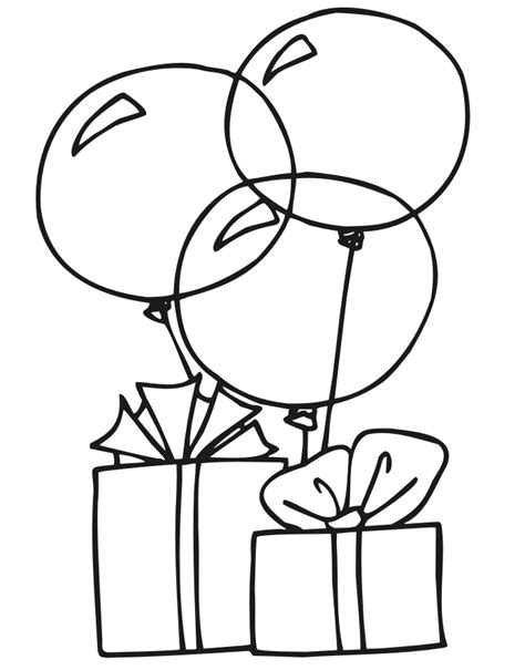 free coloring pages of 2 balloons