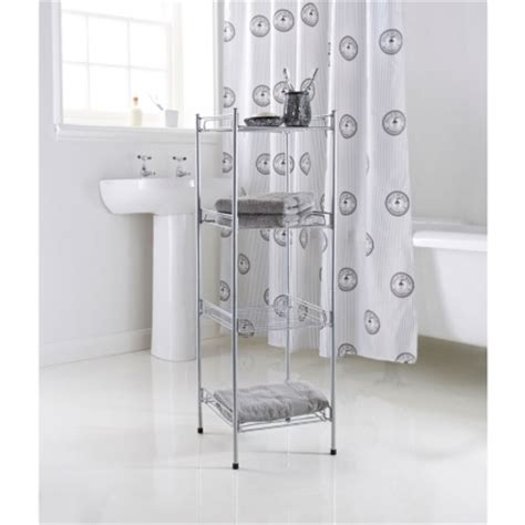 4 Tier Bathroom Shelving Unit Bathroom Storage B M Bathroom Shelves Uk