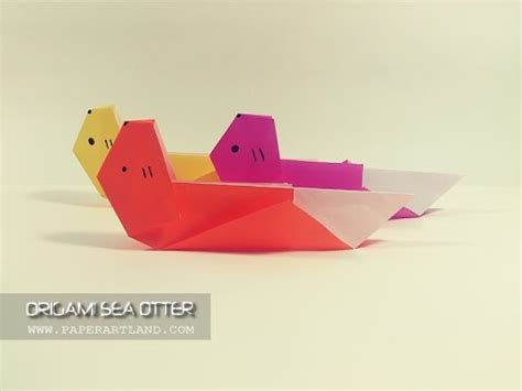 Origami Otter - how to make an origami sea otter