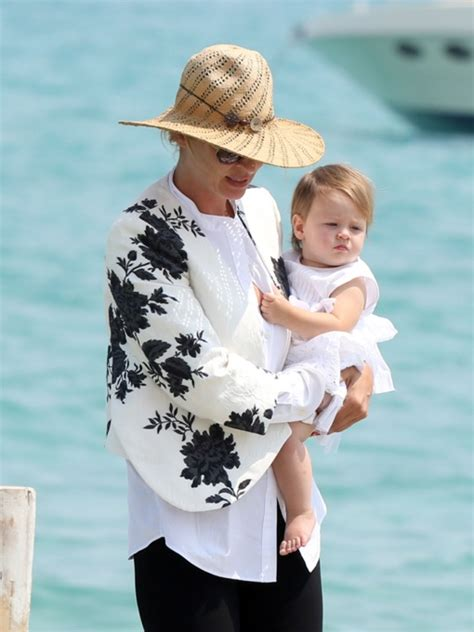 Cbell Takes Uma Thurmans Seconds by Uma Thurman And Arpad Busson Enjoy St Tropez Baby