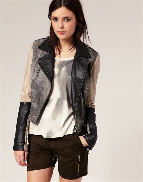 Leather By Benever tears for fears leather jacket