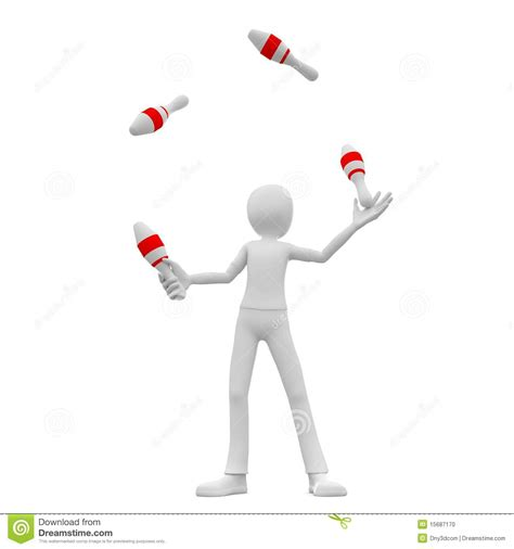 juggler 3d pattern 3d man skittle juggling stock photo image 15687170