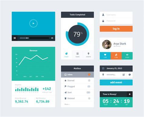 ui layout plugin free flat user interface kits of widgets by riki tanone