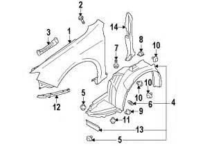 Subaru Stock Parts Subaru 59110fg031 Genuine Oem Fender Liner Ebay