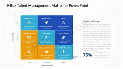 talent mapping template 9 box talent management matrix for powerpoint pslides