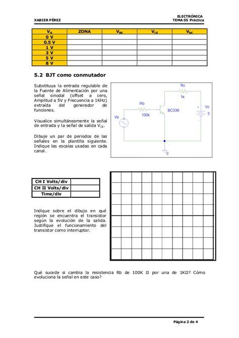 transistor bjt practica lificador operacional y transistor bjt pr 225 ctica 1