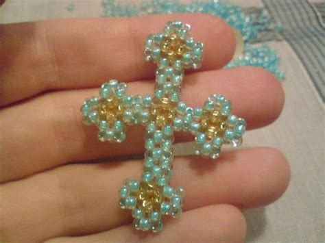 beaded cross pattern in pictures beading pendants