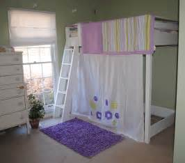 Loft Bed Curtains White Loft Bed With Curtain Diy Projects