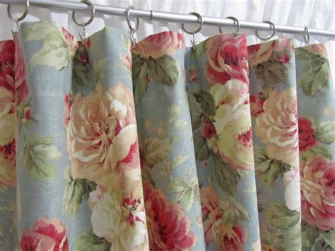 cottage style drapes cottage style curtains shabby chic home decor blue floral