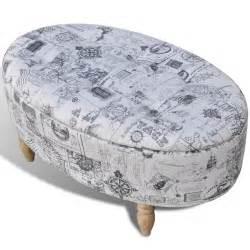 X Stool Ottoman Stool Footrest Ottoman Storage Seat Patterned Oval 99 X 60 X 47 Cm Www Vidaxl Au