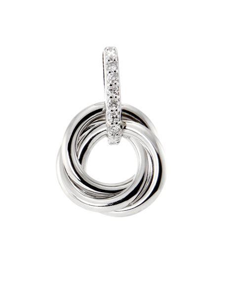 pendentif 3 anneaux entrelac 233 s or blanc 750 diamant ref 44674