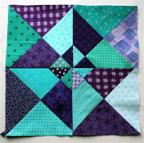 The Quilt Block by Colours Of This Week Are Purple Aqua Wombat Quilts