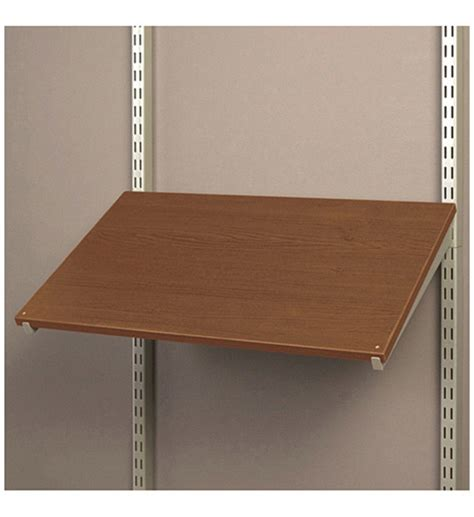24 Inch Shelf by 24 Inch Pre Drilled Shoe Shelf Chocolate Pear In Free