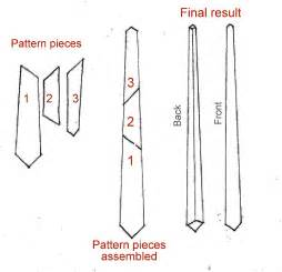 mens tie template how to make a tie