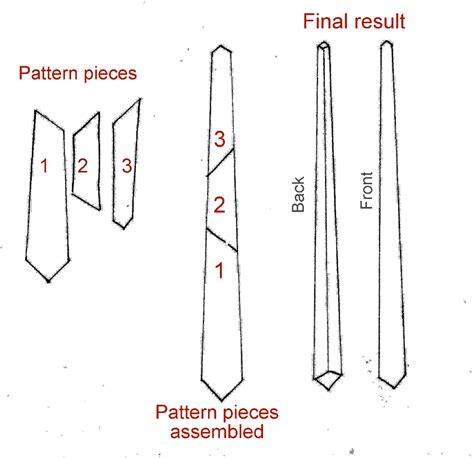 pattern make a tie how to make a tie