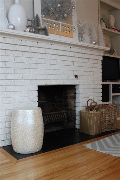 Painting Slate Fireplace by Painted Fireplace Hearth Tile Remove Bricks And Put
