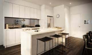 beautiful Apartment Design For Small Spaces #4: white-apartment-kitchen.jpeg
