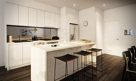 Apartment Kitchen Design Ideas Pictures by White Apartment Kitchen Interior Design Ideas