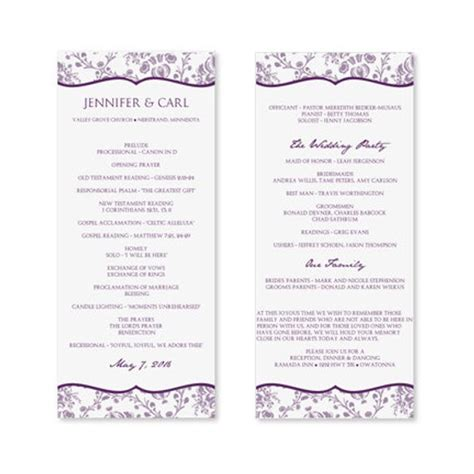 Instant Download Wedding Program Template By Diyweddingtemplates Wedding Program Template Microsoft Word