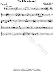 final section of a musical piece europe quot the final countdown quot sheet music trumpet solo in