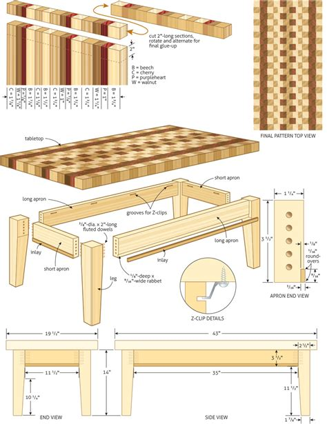woodwork plans coffee table woodworking plans woodshop plans