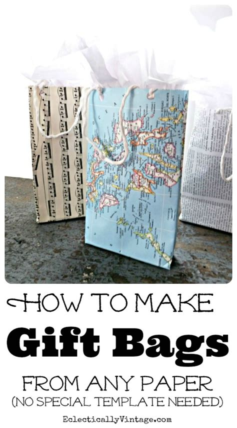 Make Paper Gift Bag Tutorial From Any Paper Make Your Own Gift Bags Template