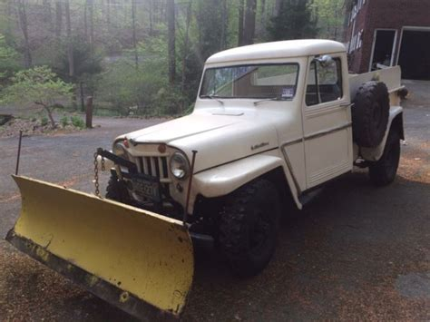 Jeep With Snow Plow For Sale 1962 Willys Jeep With Hydraulic Snow Plow For Sale