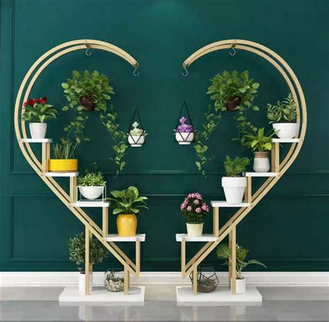 heart shaped plant stand event decor supply
