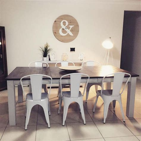 dining room farmhouse table with metal chairs folding top kmart homewares white metal chair rrp 35 00 top