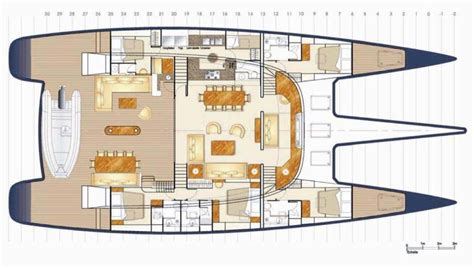 catamaran floor plan american boat plans
