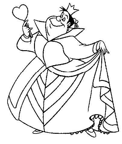 coloring page queen of hearts alice and queen of hearts coloring page coloring pages