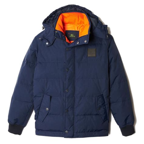 Quilted Hooded Jacket by Lacoste Quilted Hooded Jacket Lacoste From Gibbs Menswear Uk