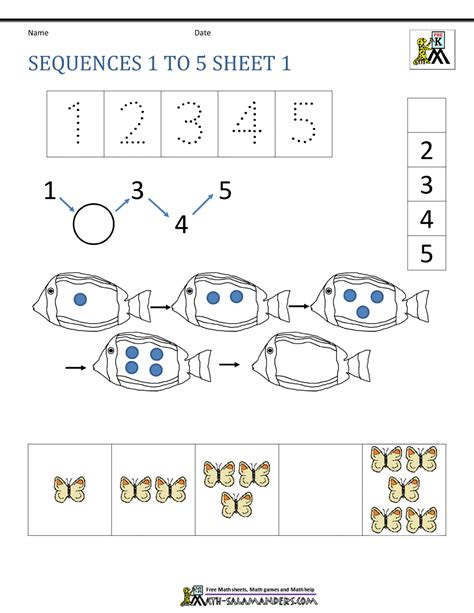 pattern sequence for kindergarten math sequencing worksheets for kindergarten kindergarten