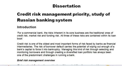 risk management dissertation help on dissertation risk management
