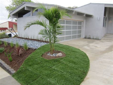 mid century modern landscaping landscaping front