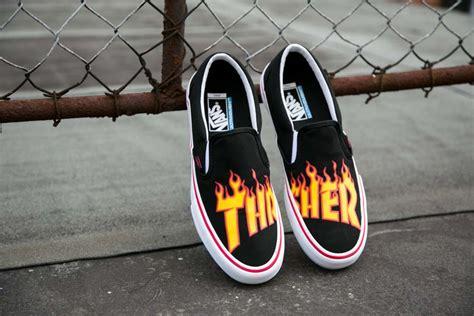 Vans Slip On Thrasher Flames die neue vans x thrasher kollektion skatedeluxe