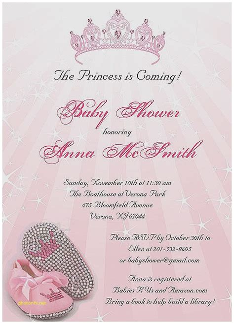 free princess baby shower invitation templates baby shower invitation awesome princess baby shower