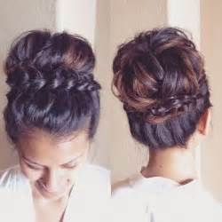 braided updo hairstyle with and wavy hair 25 best ideas about braided updo on pinterest easy