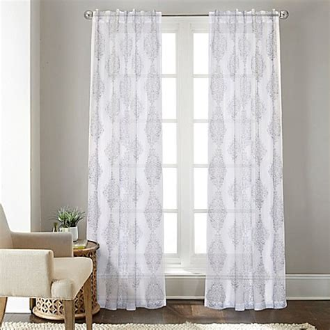 108 grey curtains buy talia 108 inch rod pocket back tab sheer window