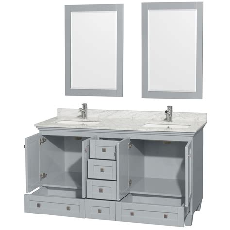 bathroom vanities sink 60 inches accmilan 60 inch sink bathroom vanity in grey finish