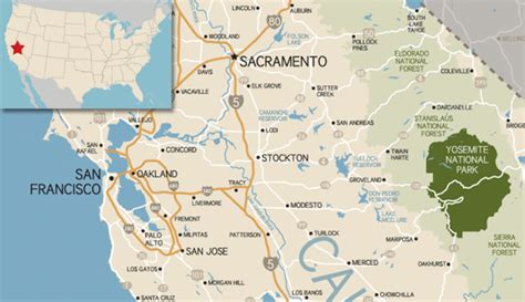 map san francisco to yosemite national park where is yosemite national park my yosemite park