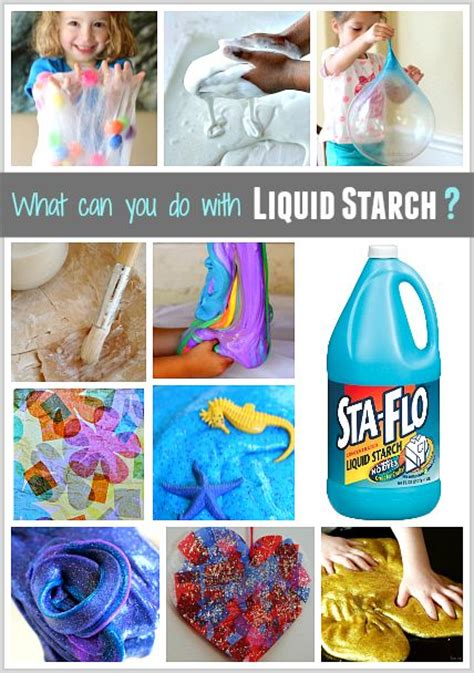 How To Make Paper Mache With Starch - 25 best ideas about liquid starch slime on