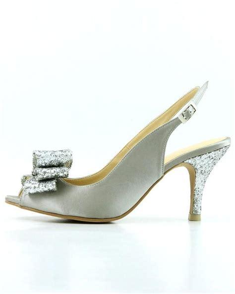 Silver Satin Wedding Shoes by Silver Wedding Shoes Silver Platinum Wedding Shoes