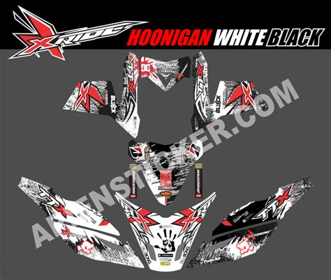 New Sticker Striping Motor Stiker Satria Fu Hoonigan Car Spec striping motor xride hoonigan bw apien sticker